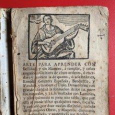 Libros antiguos: SOTOS. ARTE PARA APRENDER CON FACILIDAD... LA GUITARRA ESPAÑOLA...BANDURRIA, Y VANDOLA. MUSICA - SOT. Lote 262275810