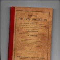 Libros antiguos: SOLFEO DE LOS SOLFEOS. LEMOINE / GARULLI. CUADERNO 2. SINDICATO MUSICAL BARCELONES DOTESIO. Lote 268871889