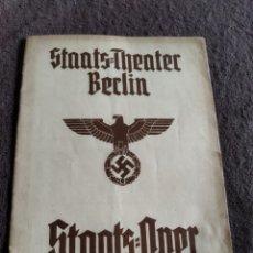 Libros antiguos: STAATS=THEATER BERLÍN OPER , ( ANTIGUO PROGRAMA DE ÓPERA ) COMPLETO .. Lote 269574198