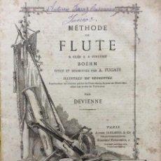 Libros antiguos: MÉTHODE DE FLUTE A CLÉS & A SYSTÉME BOEHM... PARA DEVIENNE. 185? RARO. ILUSTRADO.. Lote 270997358