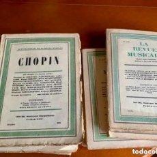 Libros antiguos: LA REVUE MUSICALE. LOTE DE 17 REVISTAS MUSICALES EN FRANCÉS. 1921 HASTA 1948. PARÍS - INCLUYE CHOPIN. Lote 270997673