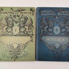 Libros antiguos: L-5736. CANÇONER SELECTE, RECULL DE LIEDER DELS GRANS MESTRES TRADUITS AL CATALÀ PER JOAQUIM PENA.. Lote 275086043