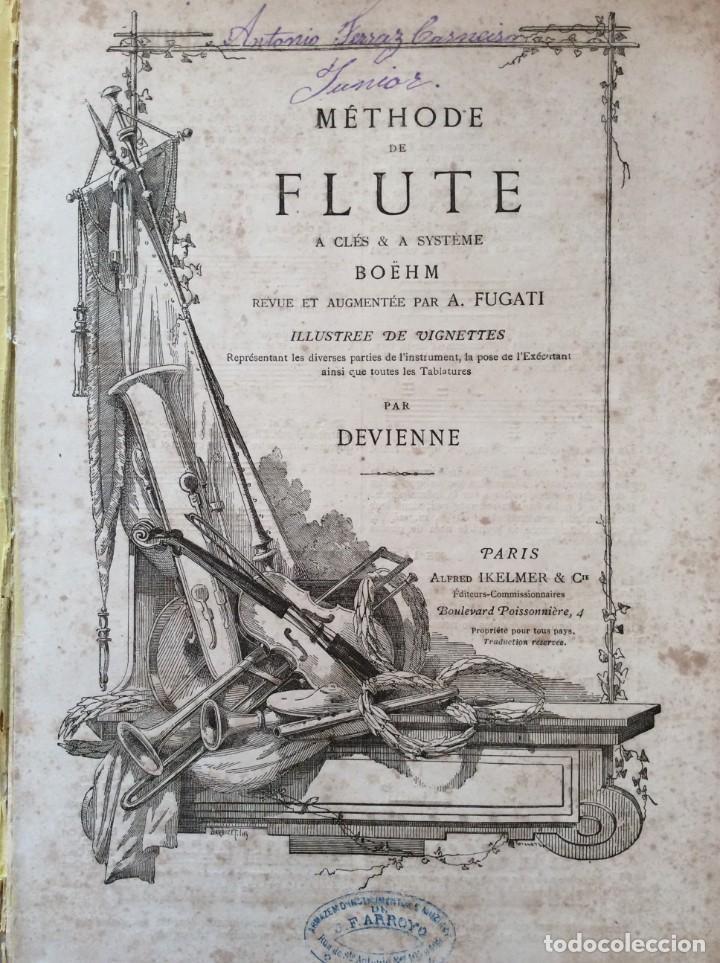 MÉTHODE DE FLUTE A CLÉS & A SYSTÉME BOEHM... PARA DEVIENNE. 185? RARO. ILUSTRADO. (Libros Antiguos, Raros y Curiosos - Bellas artes, ocio y coleccion - Música)