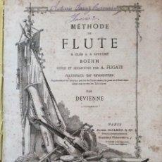 Libros antiguos: MÉTHODE DE FLUTE A CLÉS & A SYSTÉME BOEHM... PARA DEVIENNE. 185? RARO. ILUSTRADO.. Lote 276111158