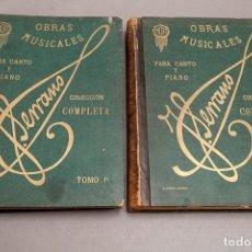 Livres anciens: COLECCIÓN COMPLETA DE LAS OBRAS MUSICALES DEL MAESTRO JOSÉ SERRANO - 2 TOMOS - COMPLETO. Lote 276174338