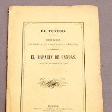 Livres anciens: EL RAPACÍN DE CANDAS - FRANCISCO GARCÍA CUEVAS - MAESTRO GABRIEL BALART - 1864. Lote 276683013
