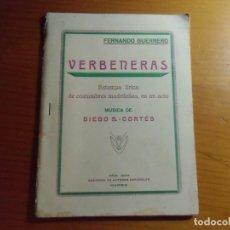 Libros antiguos: FERNANDO GUERRERO/VERBENERAS/GRAN TEATRO CINEMA DE CARAVACA(MURCIA) 1935.. Lote 277193908
