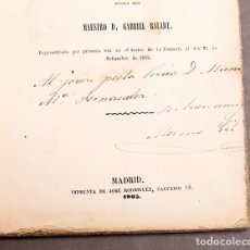 Libros antiguos: ZARZUELA - MORENO GIL - DEDICATORIA AUTÓGRAFA DEL AUTOR. Lote 277493128