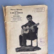 Livres anciens: NUEVO METODO PARA EL ARTE DE ACOMPAÑAR EN LA GUITARRA - LLUQUET - VALENCIA. Lote 284094278