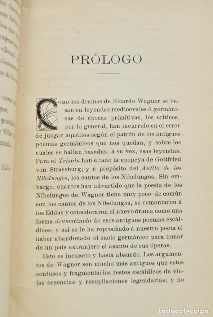 Libros antiguos: Hans Von Wolzogen. Parsifal. Guía Temática Completa. Estudio del Poema Literario y del Musical. 1914 - Foto 5 - 286728018