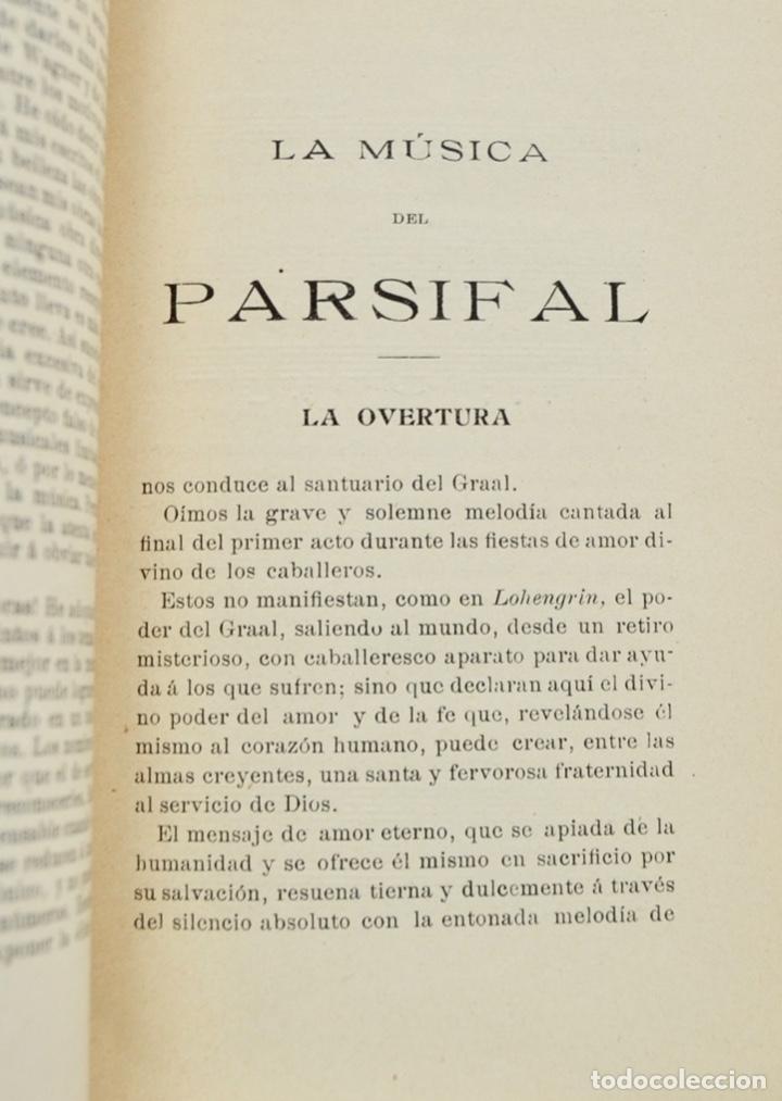 Libros antiguos: Hans Von Wolzogen. Parsifal. Guía Temática Completa. Estudio del Poema Literario y del Musical. 1914 - Foto 6 - 286728018