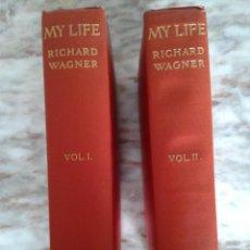Libros antiguos: MY LIFE - RICHARD WAGNER VOL. 1 AND 2. Lote 288657288