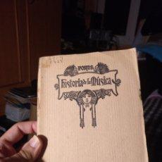 Libros antiguos: HISTORIA DE LA MÚSICA FORNS 1929. Lote 289941708
