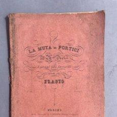 Libri antichi: LA MUTA DI PORTICI - DANIEL-FRANÇOIS AUBER - OPERA. Lote 293717638