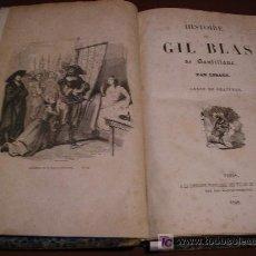 Libros antiguos: 1848. HISTORIA DE GIL BLAS DE SANTILLANA, PAR LESAGE. ORNÉE DE GRAVURES.. Lote 26362569