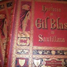 Libros antiguos: HISTORIA DE GIL BLAS DE SANTILLANA - ESPASA 1890 - LOS 2 TOMOS EN EDICIÓN MONUMENTAL - MUY BUENOS. Lote 26615185