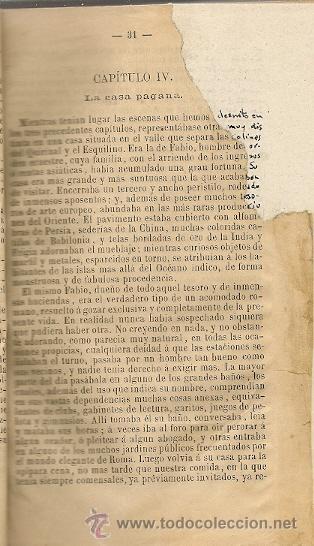 Libros antiguos: Fabiola ó La Iglesia de las Catacumbas / Cardenal Wiseman -1892 - Foto 4 - 25851089