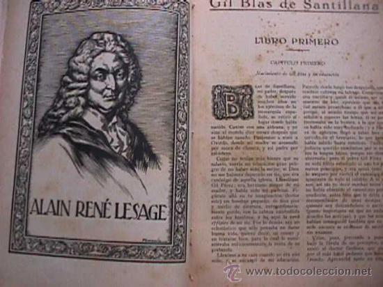 Libros antiguos: Aventuras de Gil Blas de Santillana, Alain-Rene Lesage, Hymsa, 1932 folletin encuadernado - Foto 2 - 19873922