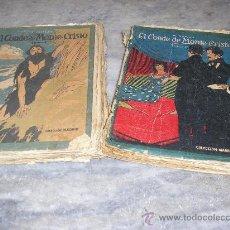 Old books - EL CONDE DE MONTECRISTO *A. DUMAS * COLECCION MADRID -TOMO I Y II - 22020899