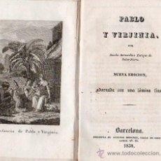 Libros antiguos: PABLO Y VIRGINIA BARCELONA 1838. Lote 25807320