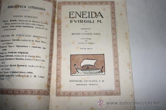 Libros antiguos: 0557- ENEIDA. EPOPEYA LATINA DE P, VIRGILI 1918 SEG. VOL. LIBROS DEL 7 AL 12 - Foto 2 - 26428993