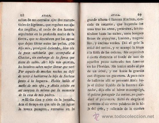 Libros antiguos: ATALA O LOS AMORES DE DOS SALVAJES EN ELDESIERTO POR FCO. AUGUSTO - BARCELONA 1808 - Foto 2 - 27212277