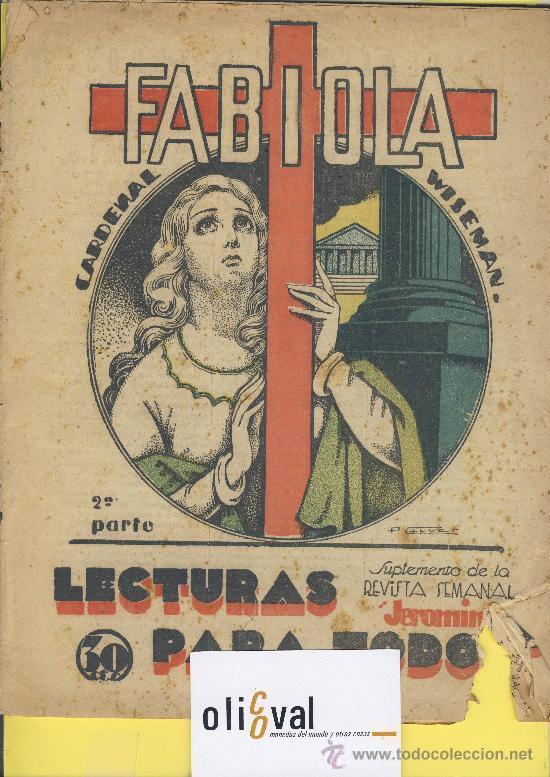 Libros antiguos: Lectura para todos fabiola cardenal wiseman-1ª -2ª parte junio 33 - Foto 2 - 27379128