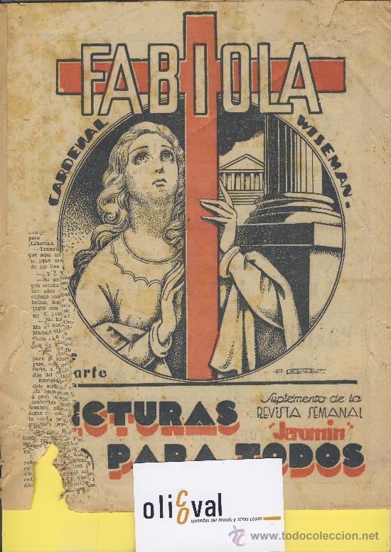 Libros antiguos: Lectura para todos fabiola cardenal wiseman-1ª -2ª parte junio 33 - Foto 3 - 27379128