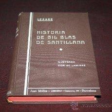Libros antiguos: 1198- 'HISTORIA DE GIL BLAS DE SANTILLANA' TOMO II DE LESAGE TRAD. CASTELLANA DEL PADRE ISLA.. Lote 27655398