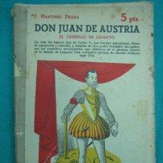 Libros antiguos: NOVELA HISTORICA. BIOGRAFIAS HISTORICAS. DON JUAN DE AUSTRIA. Lote 30198296