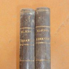 Libros antiguos: 2 TOMOS. EL JUDIO ERRANTE. NOVELA DE 1844. . Lote 30501473