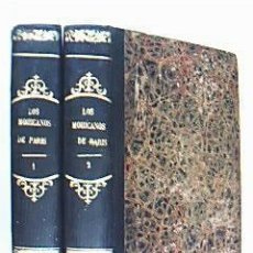 Libros antiguos: LOS MOHICANOS DE PARÍS.TOMOS I Y II (INCOMPLETO). PALAU 77079. DUMAS, ALEJANDRO. MANINI HNOS. 1860. Lote 31071565