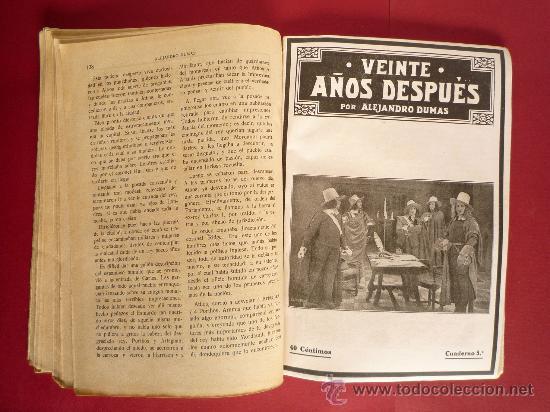 Libros antiguos: ALEJANDRO DUMAS. VEINTE AÑOS DESPUES - Foto 7 - 31850343