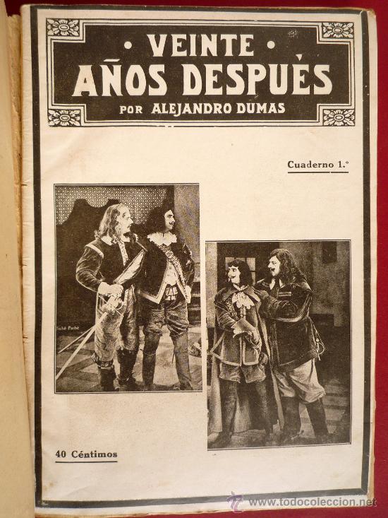 Libros antiguos: ALEJANDRO DUMAS. VEINTE AÑOS DESPUES - Foto 4 - 31850343