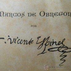 Libros antiguos: VIDA DEL ESCUDERO MARCOS DE OBREGÓN. DE VICENTE ESPINEL. 1881.. Lote 32911171