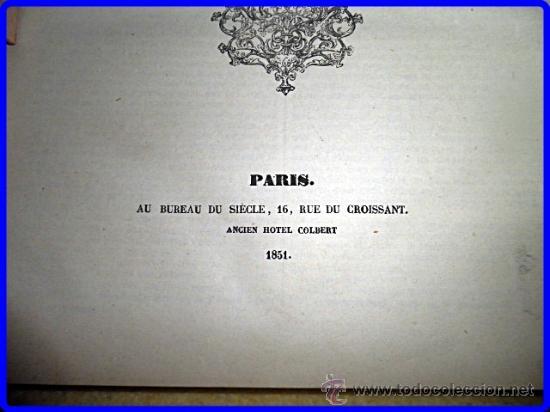Libros antiguos: AÑO 1851. ALEJANDRO DUMAS. ELEGANTE VOLÚMEN DE 32 CM. DE ALTO. - Foto 3 - 35372960