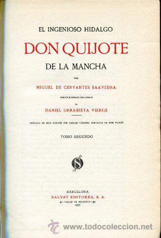 Libros antiguos: 1928: DON QUIJOTE DE LUJO - URRABIETA VIERGE - Foto 3 - 35485391