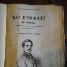 Libros antiguos: MEN RODRIGUEZ DE SANABRIA, D. MANUEL FERNANDEZ Y GONZALEZ. Lote 37674534