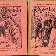 Libros antiguos: SAINTINE : PICCIOLA - DOS TOMOS (1897). Lote 38125597