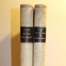 Libros antiguos: OBRA COMPLETA LOS TRES MOSQUETEROS Y EL VIZCONDE DE BRAGELONNE A. DUMAS EDITORIAL JUAN TRILLA. Lote 38591668
