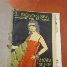 Libros antiguos: EL SIGNO DE SIVA. VICENTE DIEZ DE TEJADA. MADRID, 1923. . Lote 39144027