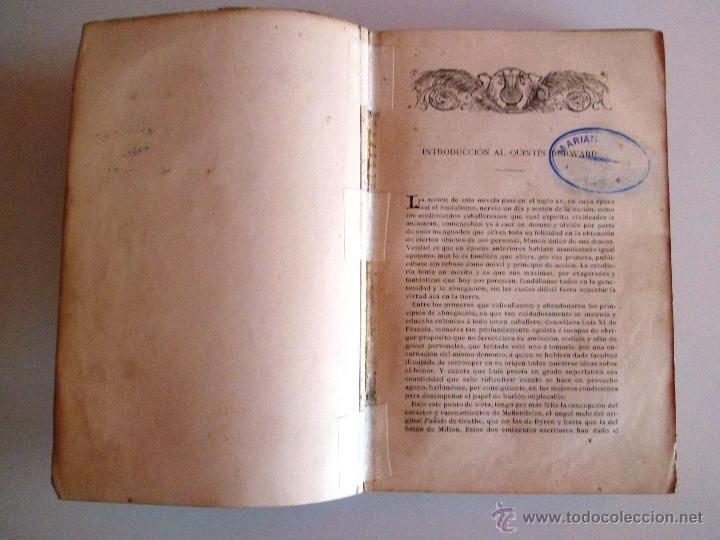 Libros antiguos: QUINTÍN DURWARD. NOVELA HISTÓRICA. SIR WALTER SCOTT (1883) - Foto 20 - 39508632