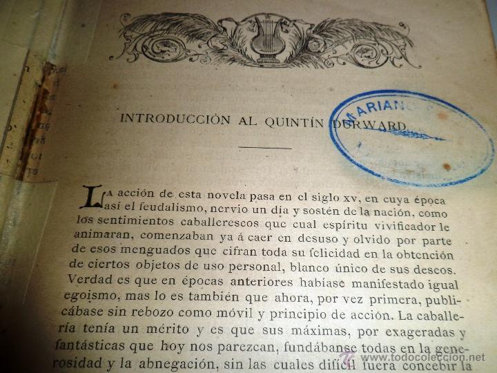 Libros antiguos: QUINTÍN DURWARD. NOVELA HISTÓRICA. SIR WALTER SCOTT (1883) - Foto 19 - 39508632
