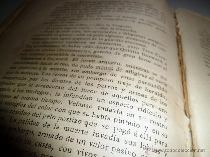 Libros antiguos: QUINTÍN DURWARD. NOVELA HISTÓRICA. SIR WALTER SCOTT (1883) - Foto 11 - 39508632