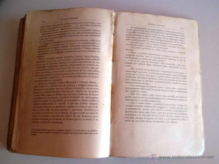 Libros antiguos: QUINTÍN DURWARD. NOVELA HISTÓRICA. SIR WALTER SCOTT (1883) - Foto 9 - 39508632