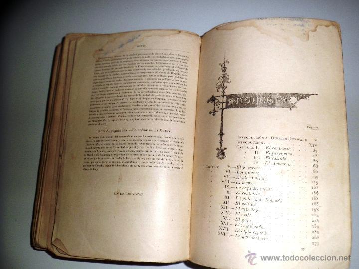 Libros antiguos: QUINTÍN DURWARD. NOVELA HISTÓRICA. SIR WALTER SCOTT (1883) - Foto 6 - 39508632