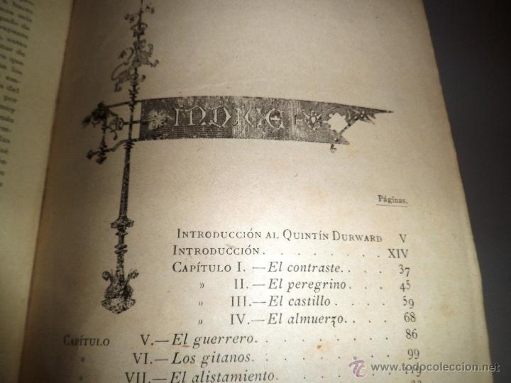 Libros antiguos: QUINTÍN DURWARD. NOVELA HISTÓRICA. SIR WALTER SCOTT (1883) - Foto 2 - 39508632