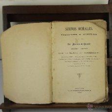Libros antiguos: 4063- SUEÑOS MORALES VISIONES Y VISITAS. FRANCISCO DE QUEVEDO. IMP. INGLADA. 1889.. Lote 40043117