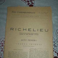 Libros antiguos: RICHELIU JACINTO BENAVENTE 1920. Lote 42033846