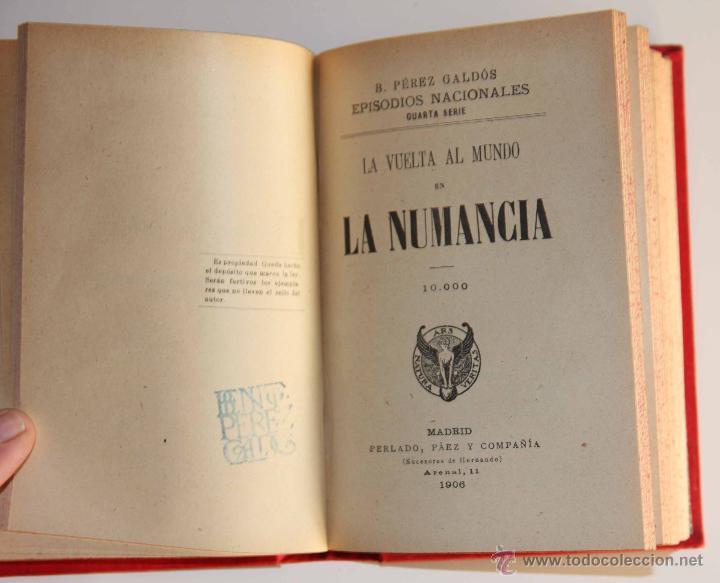 Libros antiguos: GALDÓS. EPISODIOS NACIONALES CUARTA SERIE. CARLOS VI EN LA RÁPITA (1905) LA NUMANCIA (1906) - Foto 2 - 42216433